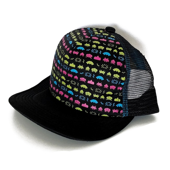 Other - Space Invaders Snapback Trucker Hat OSFM